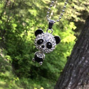 Jewelry - 🌺Crystal Panda Necklace